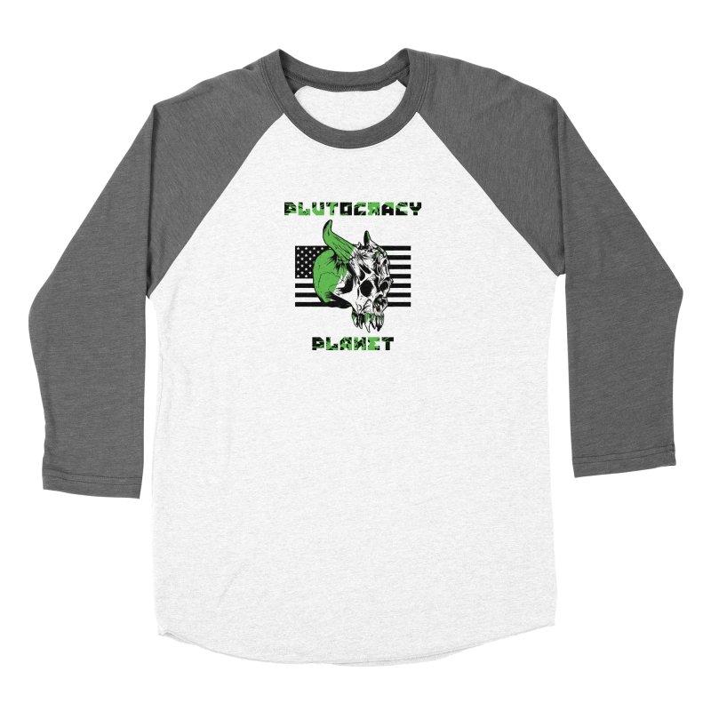 Plutocracy Planet (II) Women's Longsleeve T-Shirt by Lava Bat's Artist Shop