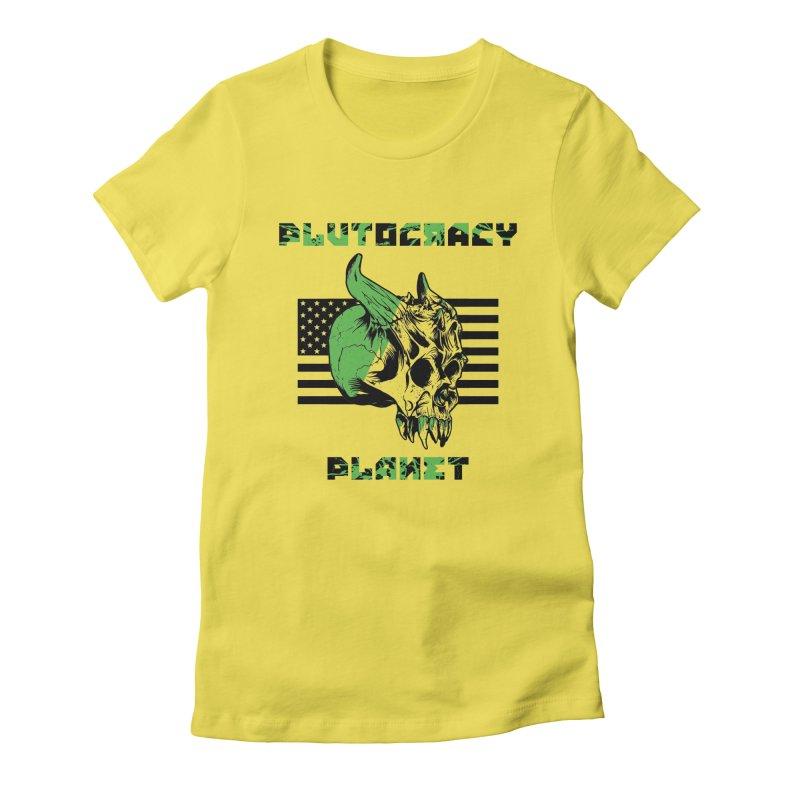Plutocracy Planet (II) Women's T-Shirt by Lava Bat's Artist Shop