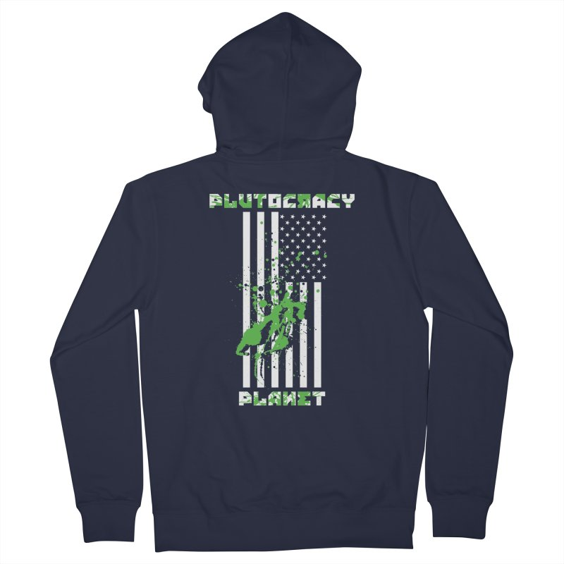 Plutocracy Planet (I) Women's Zip-Up Hoody by Lava Bat's Artist Shop