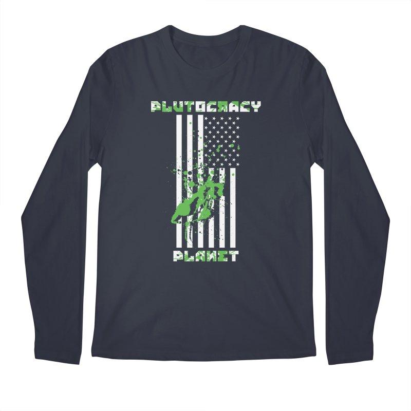Plutocracy Planet (I) Men's Longsleeve T-Shirt by Lava Bat's Artist Shop