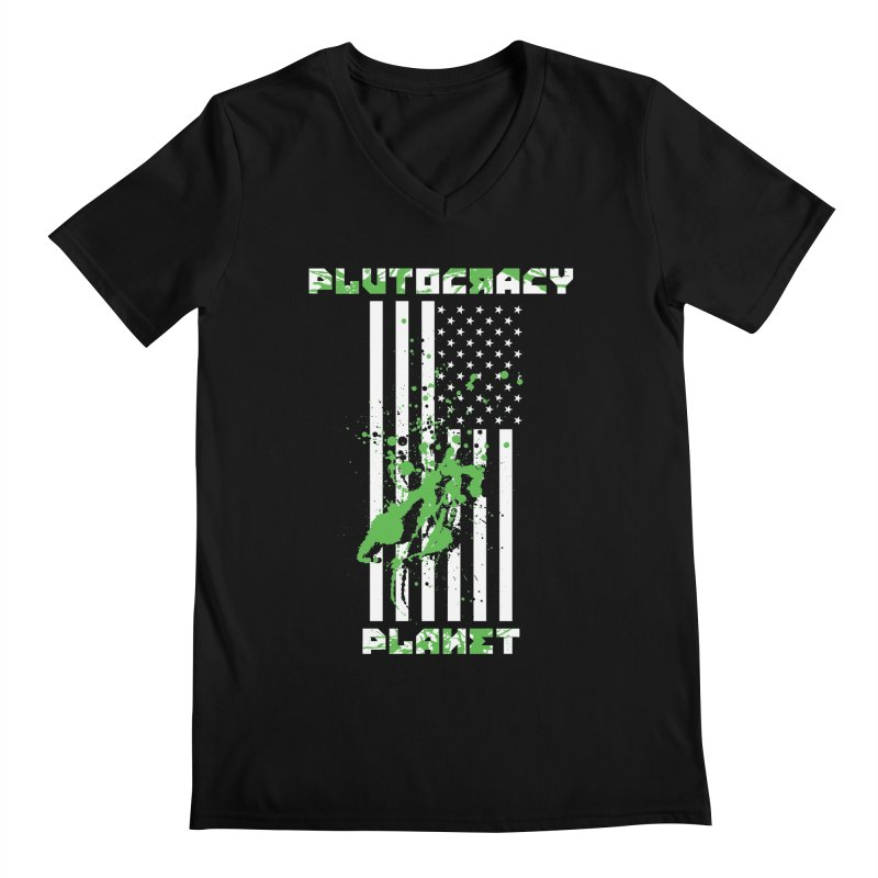 Plutocracy Planet (I) Men's V-Neck by Lava Bat's Artist Shop