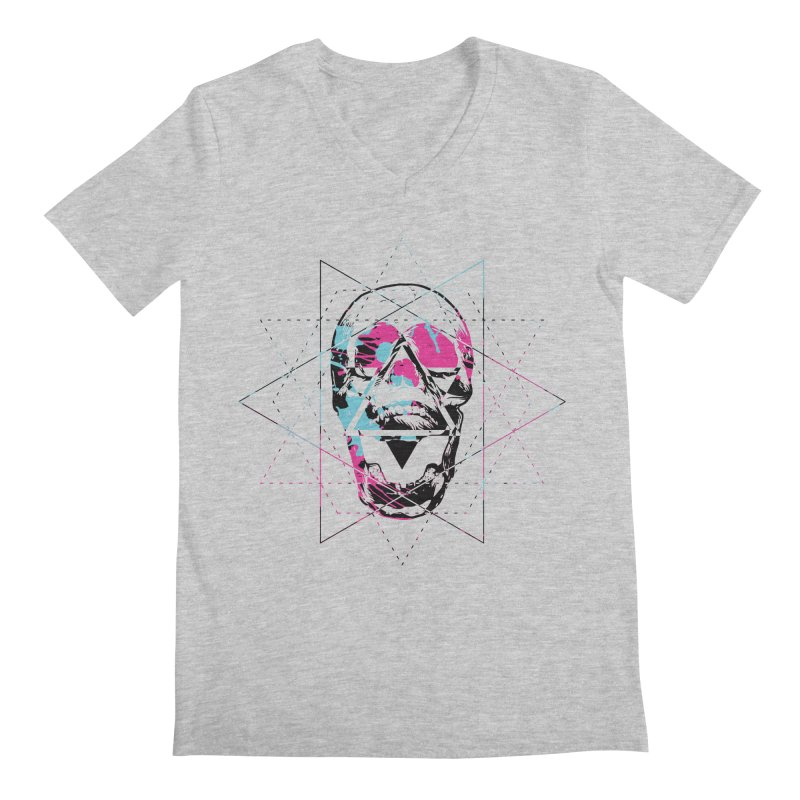 Geometry of the Damned Men's V-Neck by Lava Bat's Artist Shop