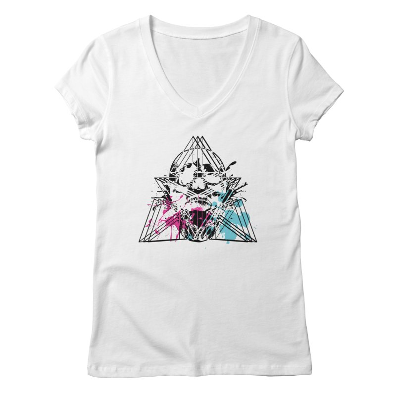 Geometry of the Damned (II) Women's V-Neck by Lava Bat's Artist Shop