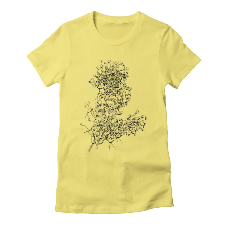 scan_T_blacknails Women's Fitted T-Shirt by lavatrice's Artist Shop