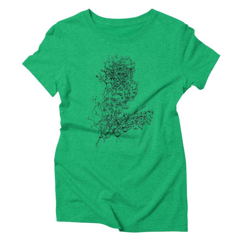 scan_T_blacknails Women's Triblend T-Shirt by lavatrice's Artist Shop