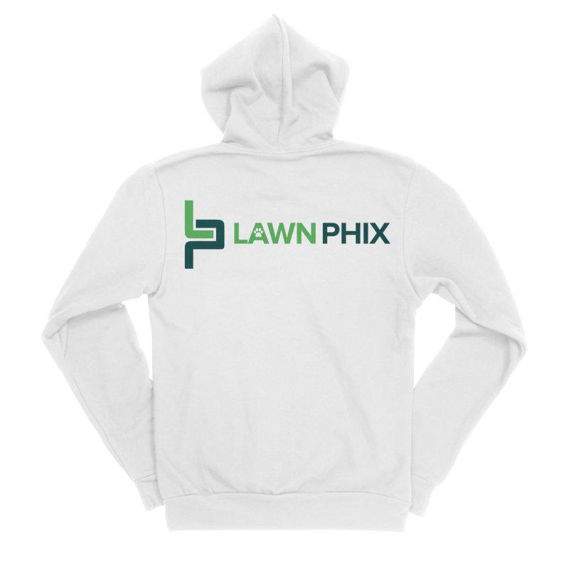 Lawn Phix Logo Men's Zip-Up Hoody by lawnphix's Artist Shop