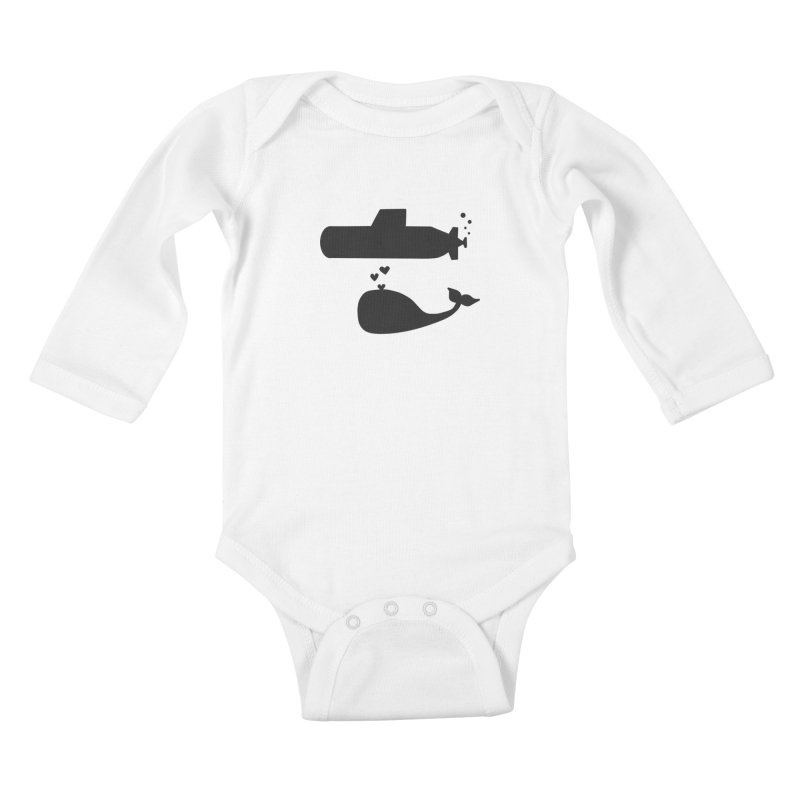 oh whale, sea you later Kids Baby Longsleeve Bodysuit by Lawrence's Shop