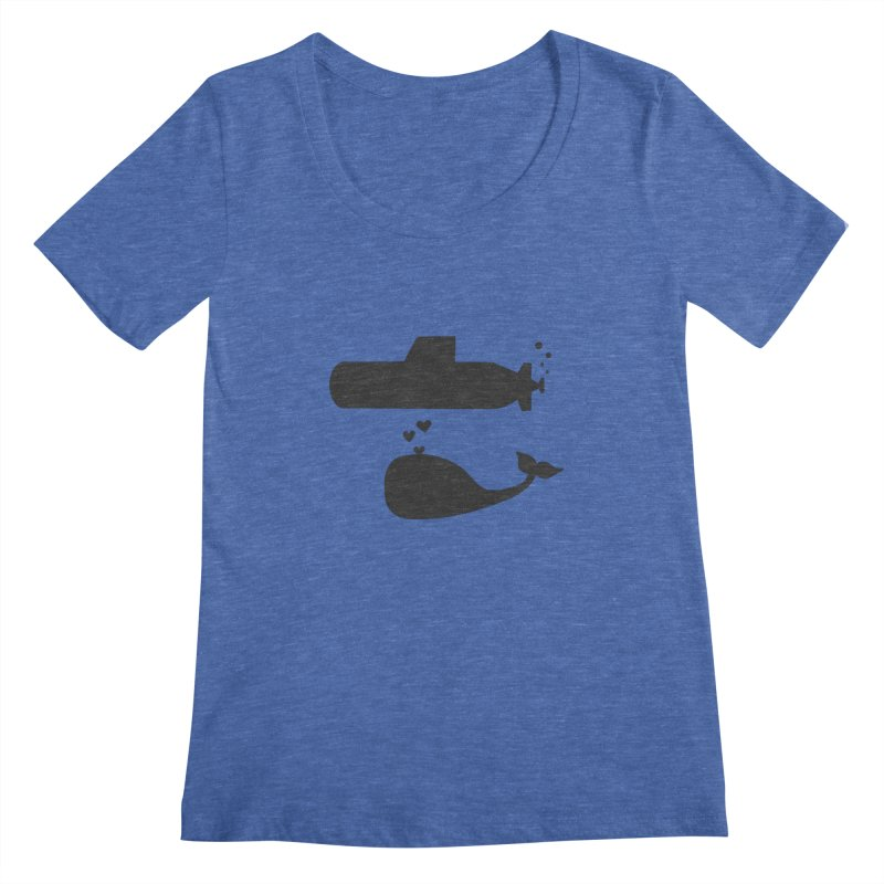 oh whale, sea you later Women's Scoopneck by Lawrence's Shop