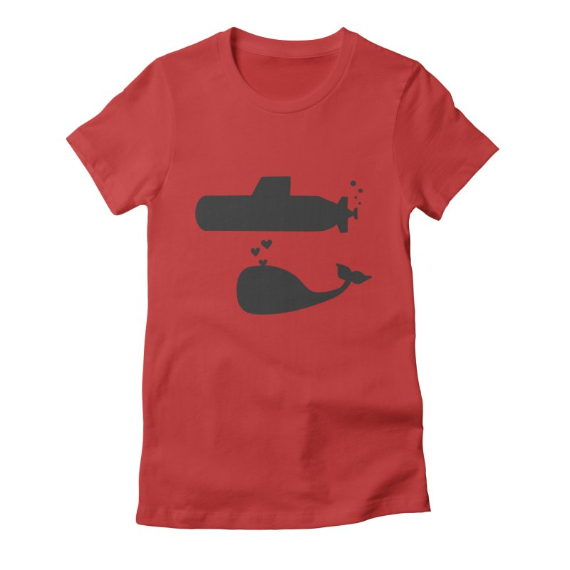 oh whale, sea you later Women's Fitted T-Shirt by Lawrence's Shop