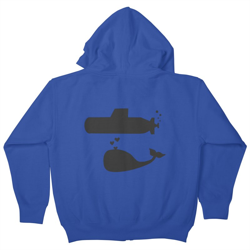 oh whale, sea you later Kids Zip-Up Hoody by Lawrence's Shop