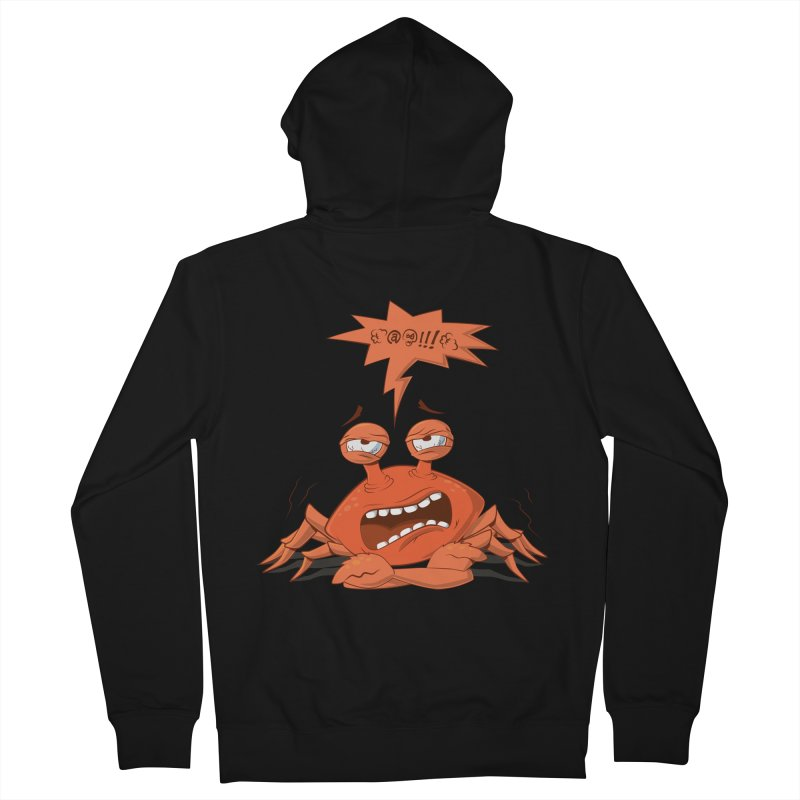 Crabby Women's French Terry Zip-Up Hoody by layla's Artist Shop