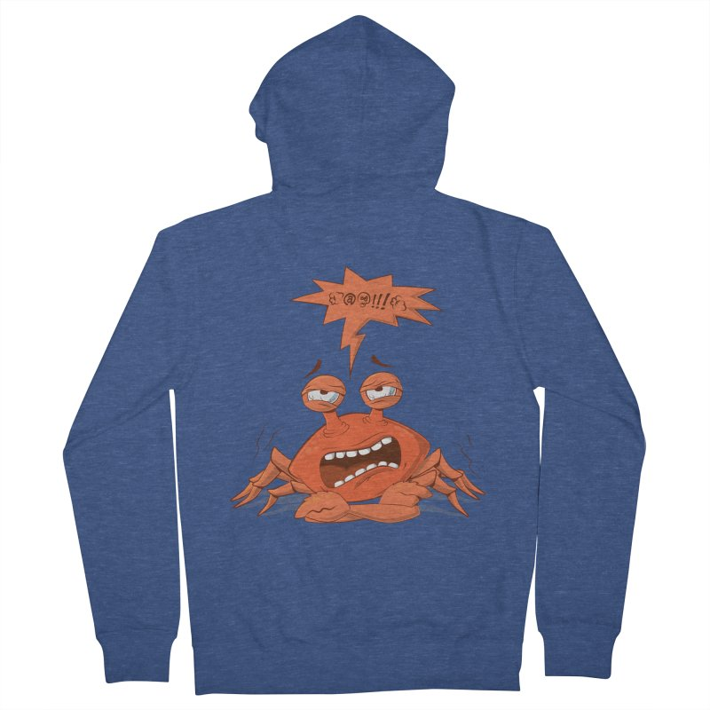 Crabby Men's Zip-Up Hoody by layla's Artist Shop