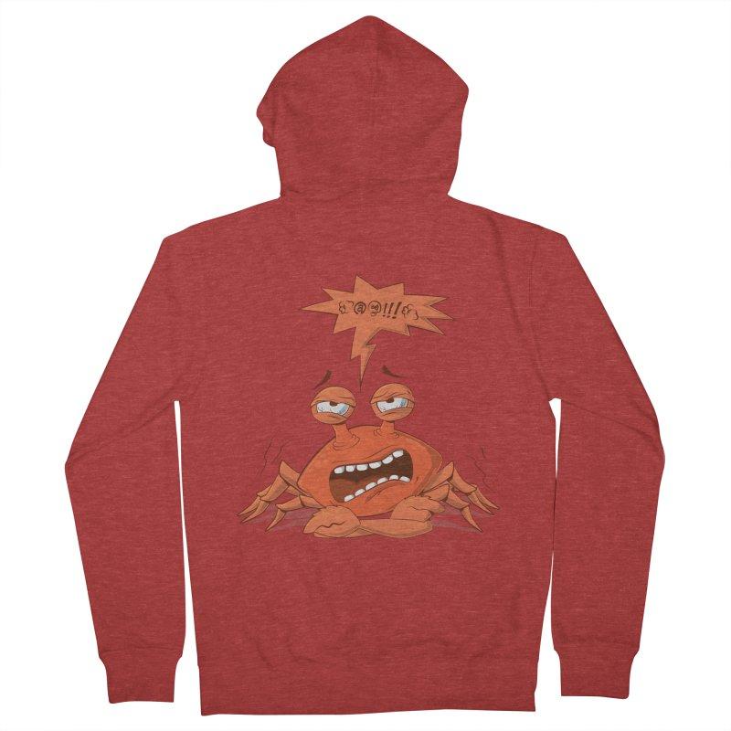Crabby Men's Zip-Up Hoody by layla's Artist Shop