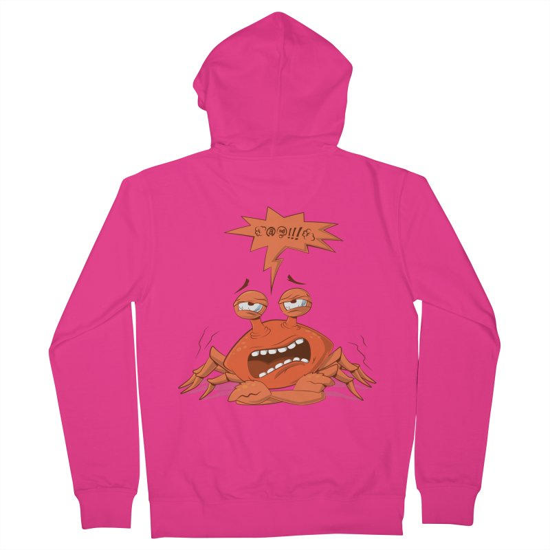 Crabby Men's French Terry Zip-Up Hoody by layla's Artist Shop