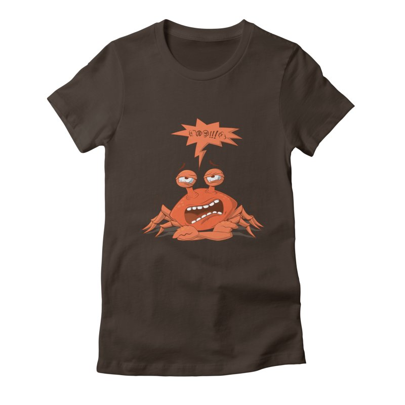 Crabby Women's Fitted T-Shirt by layla's Artist Shop