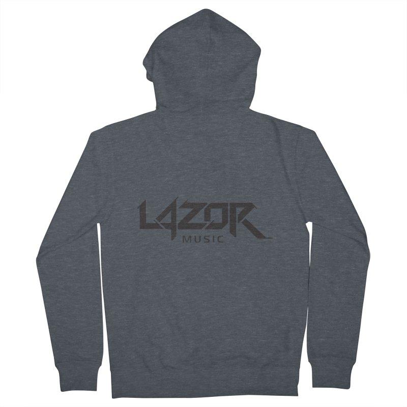 Lazor Music (Black Logo) Men's Zip-Up Hoody by Lazor Music Merchandise