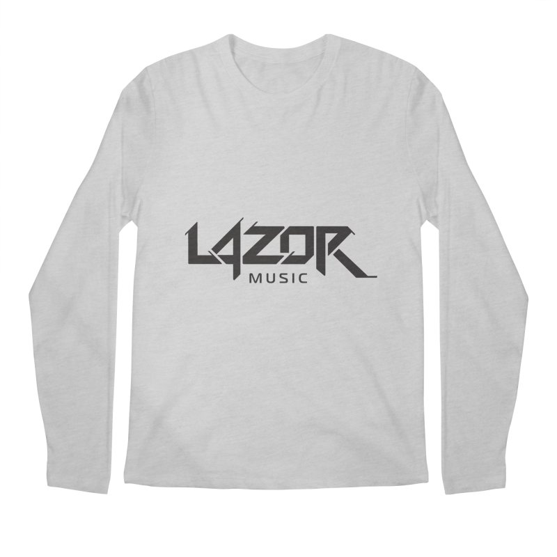 Lazor Music (Black Logo) Men's Longsleeve T-Shirt by Lazor Music Merchandise