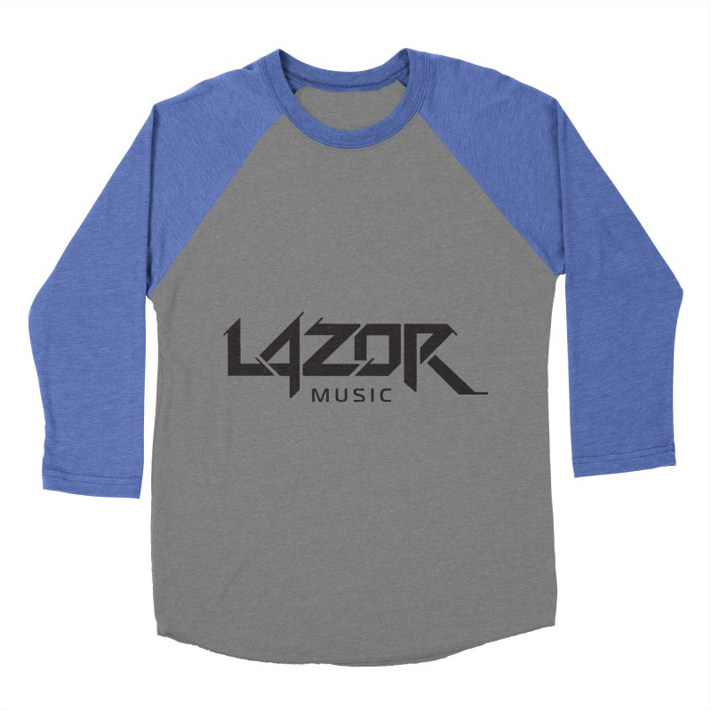 Lazor Music (Black Logo) Men's Baseball Triblend T-Shirt by Lazor Music Merchandise