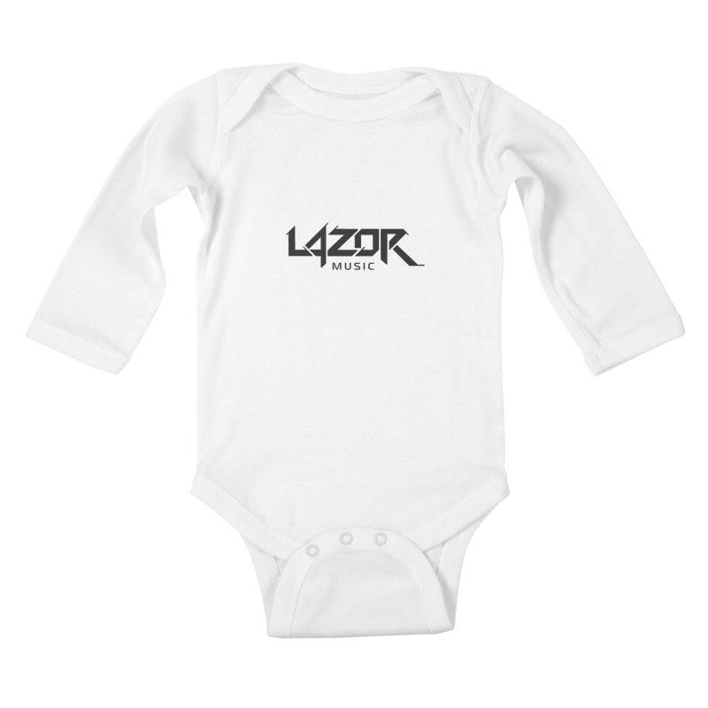 Lazor Music (Black Logo) Kids Baby Longsleeve Bodysuit by Lazor Music Merchandise