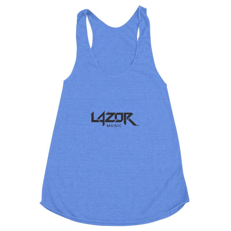 Lazor Music (Black Logo) Women's Racerback Triblend Tank by Lazor Music Merchandise