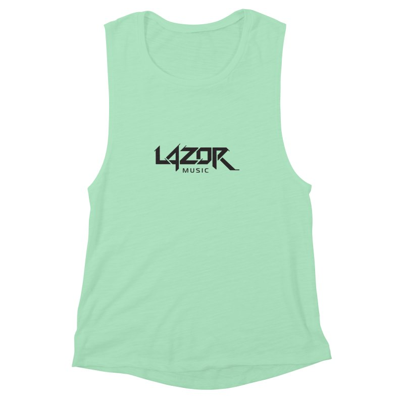 Lazor Music (Black Logo) Women's Muscle Tank by Lazor Music Merchandise