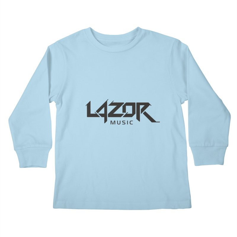 Lazor Music (Black Logo) Kids Longsleeve T-Shirt by Lazor Music Merchandise