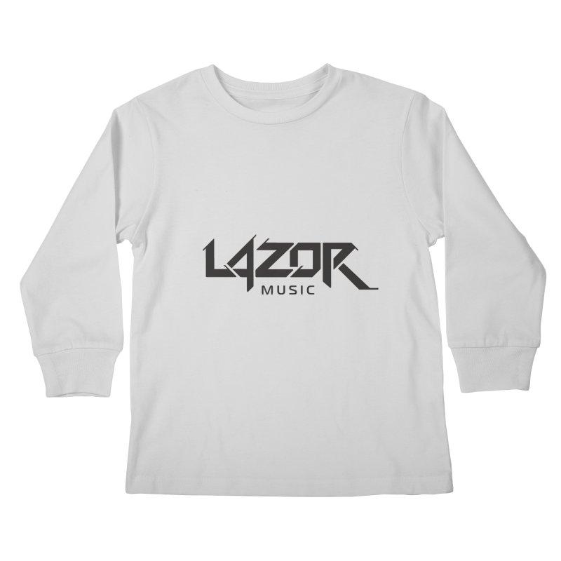 Lazor Music (Black Logo) Kids Longsleeve T-Shirt by Lazor Music Merchandise