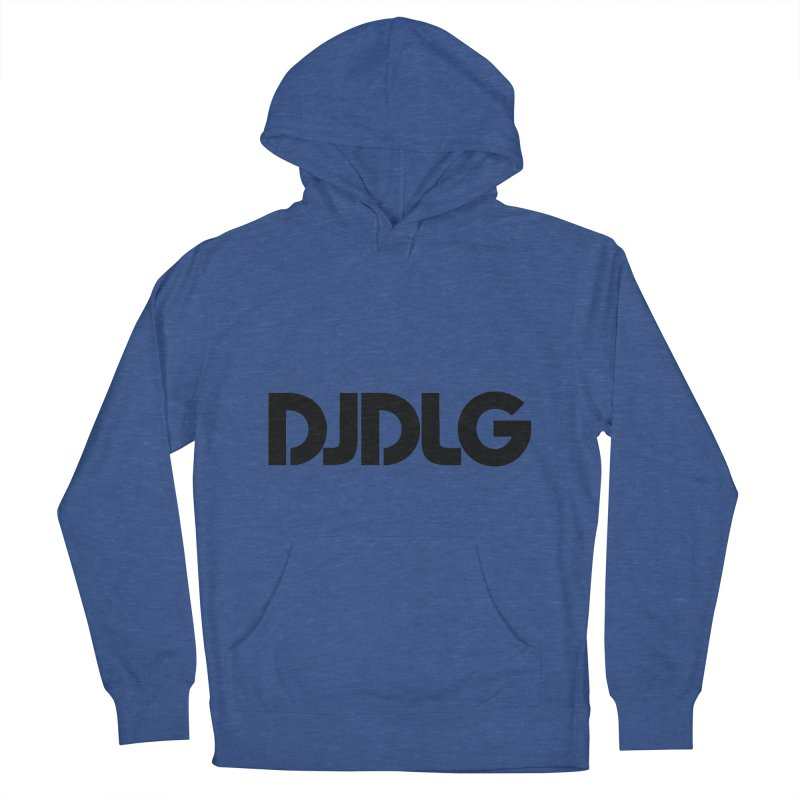 DJ DLG (Black Logo) Men's Pullover Hoody by Lazor Music Merchandise
