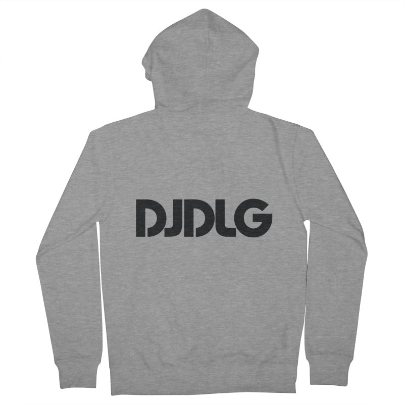 DJ DLG (Black Logo) Men's Zip-Up Hoody by Lazor Music Merchandise
