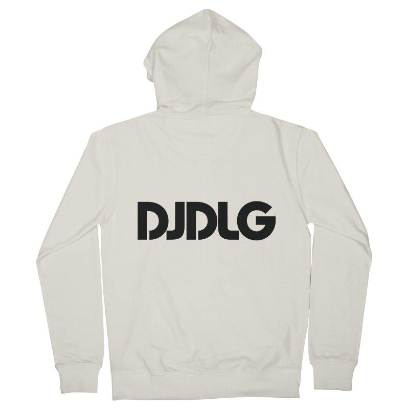 DJ DLG (Black Logo) Men's Zip-Up Hoody by Lazor Music Merchandise