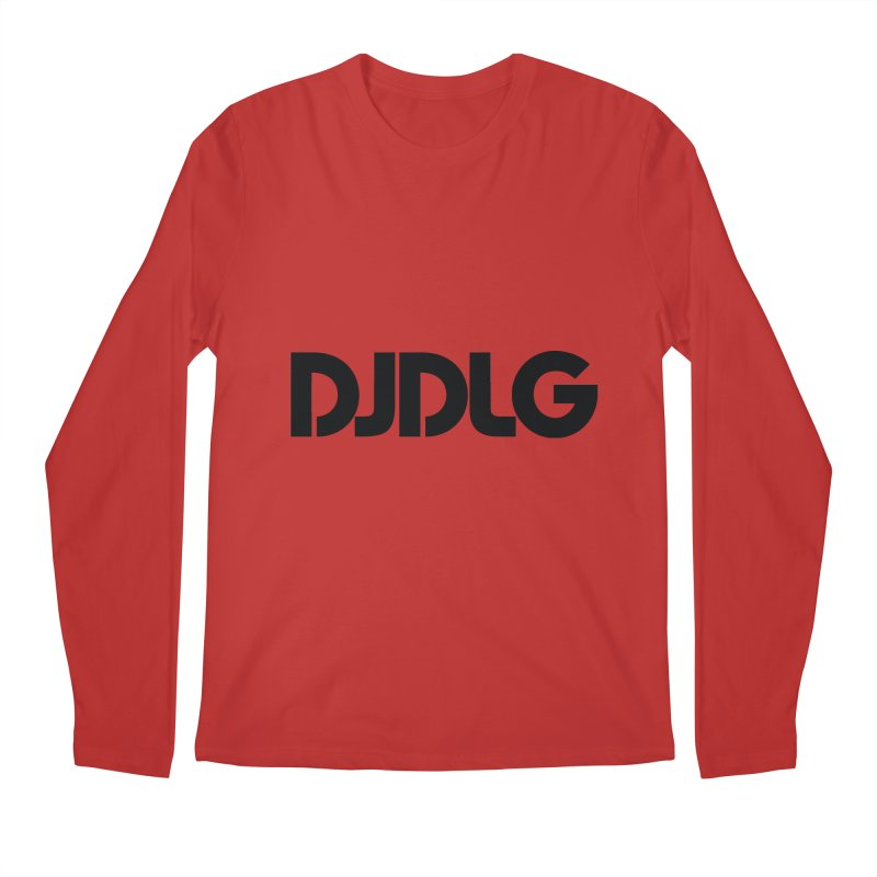 DJ DLG (Black Logo) Men's Longsleeve T-Shirt by Lazor Music Merchandise