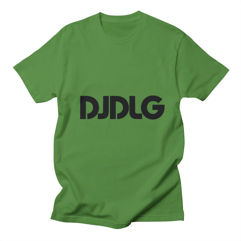 DJ DLG (Black Logo) Men's T-Shirt by Lazor Music Merchandise
