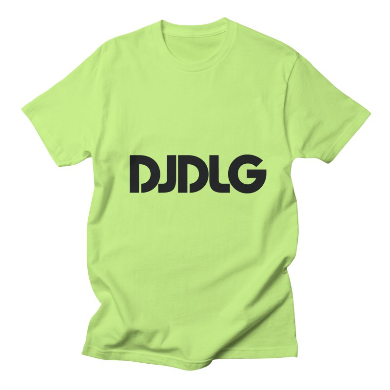DJ DLG (Black Logo) Men's T-shirt by Lazor Music Merchandise
