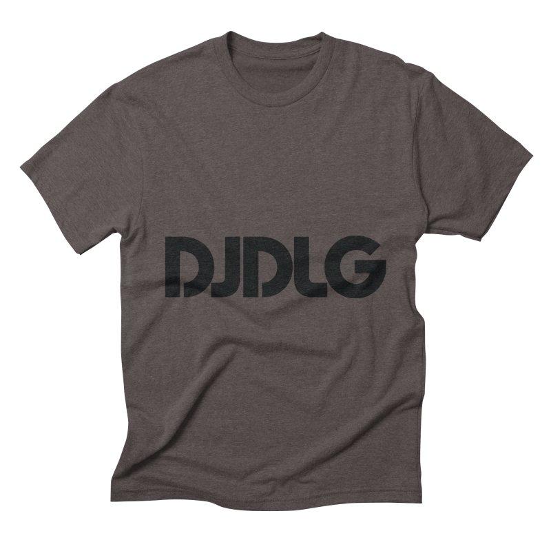 DJ DLG (Black Logo) Men's Triblend T-shirt by Lazor Music Merchandise
