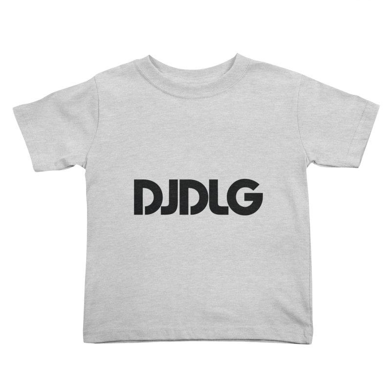 DJ DLG (Black Logo) Kids Toddler T-Shirt by Lazor Music Merchandise