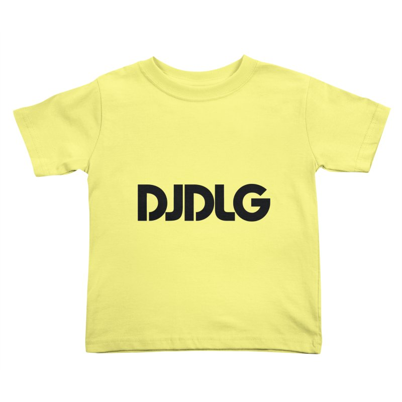 DJ DLG (Black Logo) Kids Toddler T-Shirt by Lazor Music Merchandise