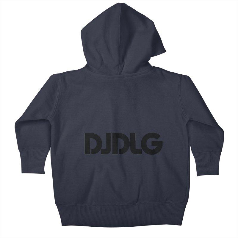 DJ DLG (Black Logo) Kids Baby Zip-Up Hoody by Lazor Music Merchandise