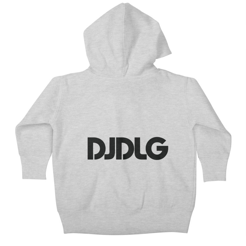 DJ DLG (Black Logo) Kids Baby Zip-Up Hoody by Lazor Music Merchandise