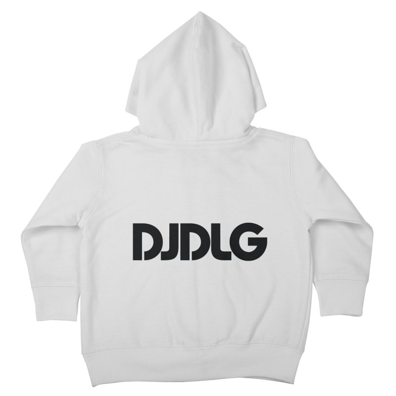 DJ DLG (Black Logo) Kids Toddler Zip-Up Hoody by Lazor Music Merchandise