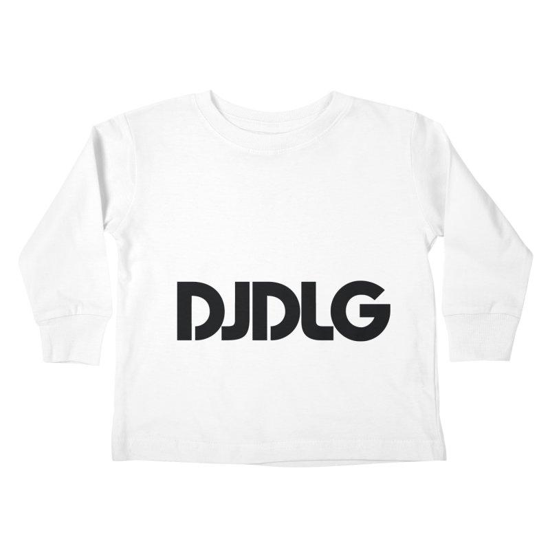 DJ DLG (Black Logo) Kids Toddler Longsleeve T-Shirt by Lazor Music Merchandise