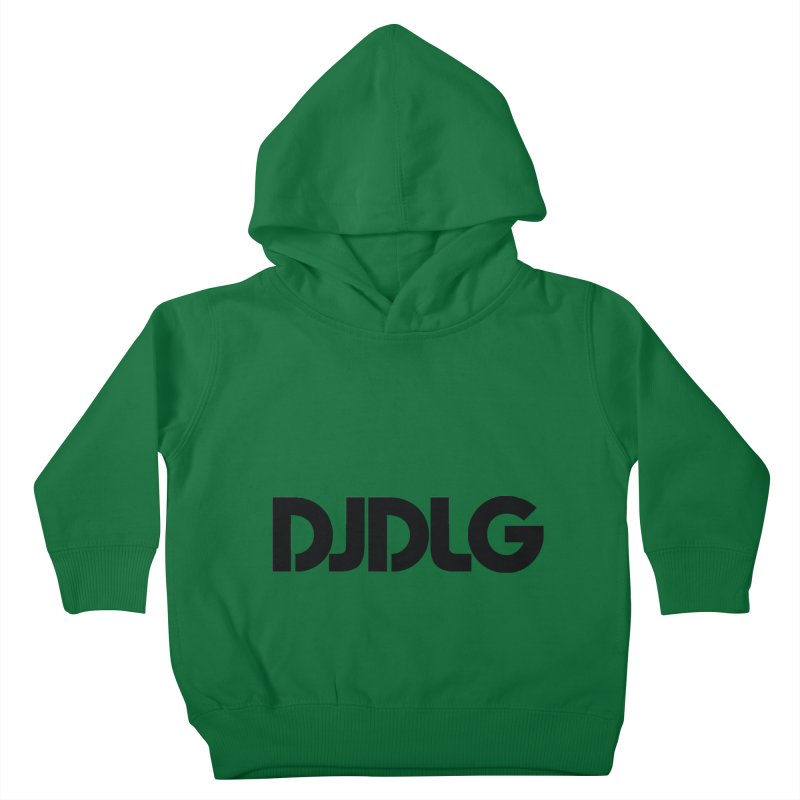 DJ DLG (Black Logo) Kids Toddler Pullover Hoody by Lazor Music Merchandise