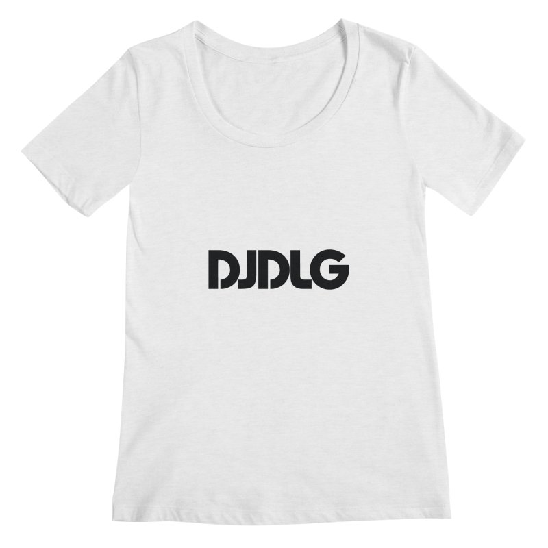 DJ DLG (Black Logo) Women's Scoopneck by Lazor Music Merchandise