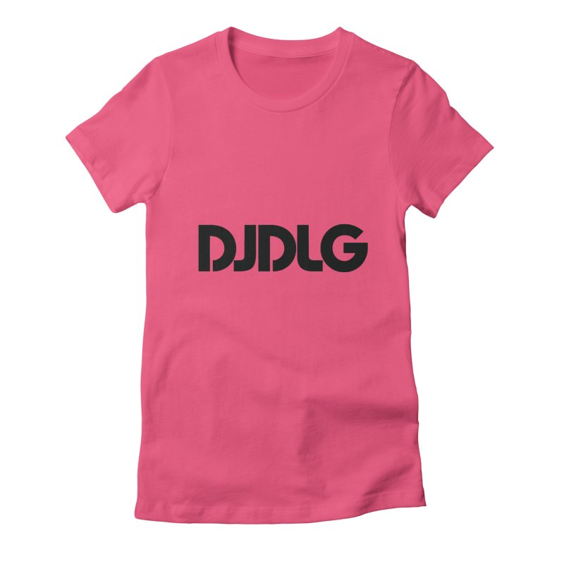 DJ DLG (Black Logo) Women's Fitted T-Shirt by Lazor Music Merchandise