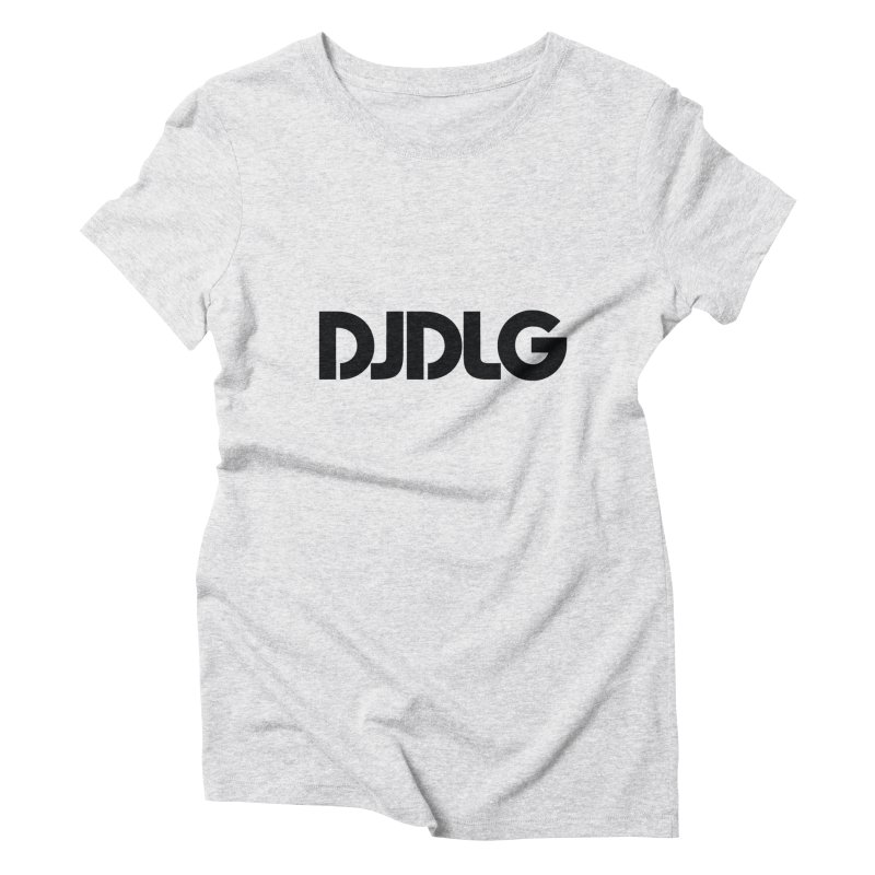 DJ DLG (Black Logo) Women's Triblend T-Shirt by Lazor Music Merchandise