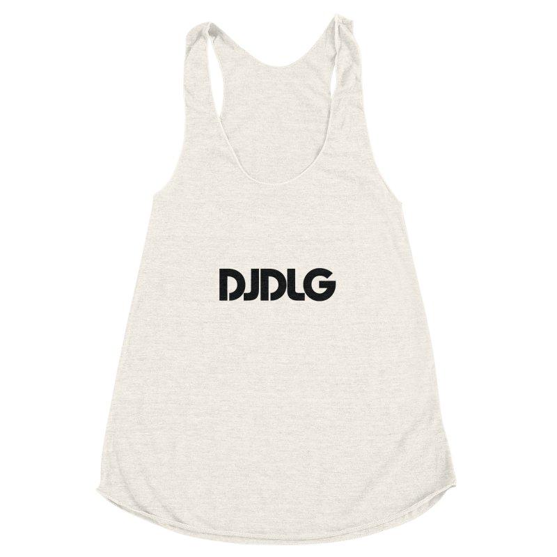 DJ DLG (Black Logo) Women's Racerback Triblend Tank by Lazor Music Merchandise