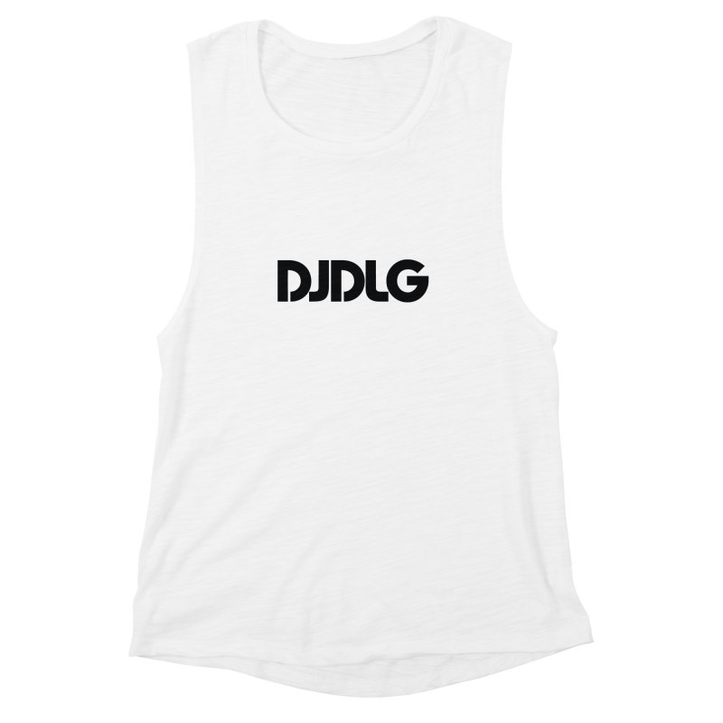 DJ DLG (Black Logo) Women's Muscle Tank by Lazor Music Merchandise