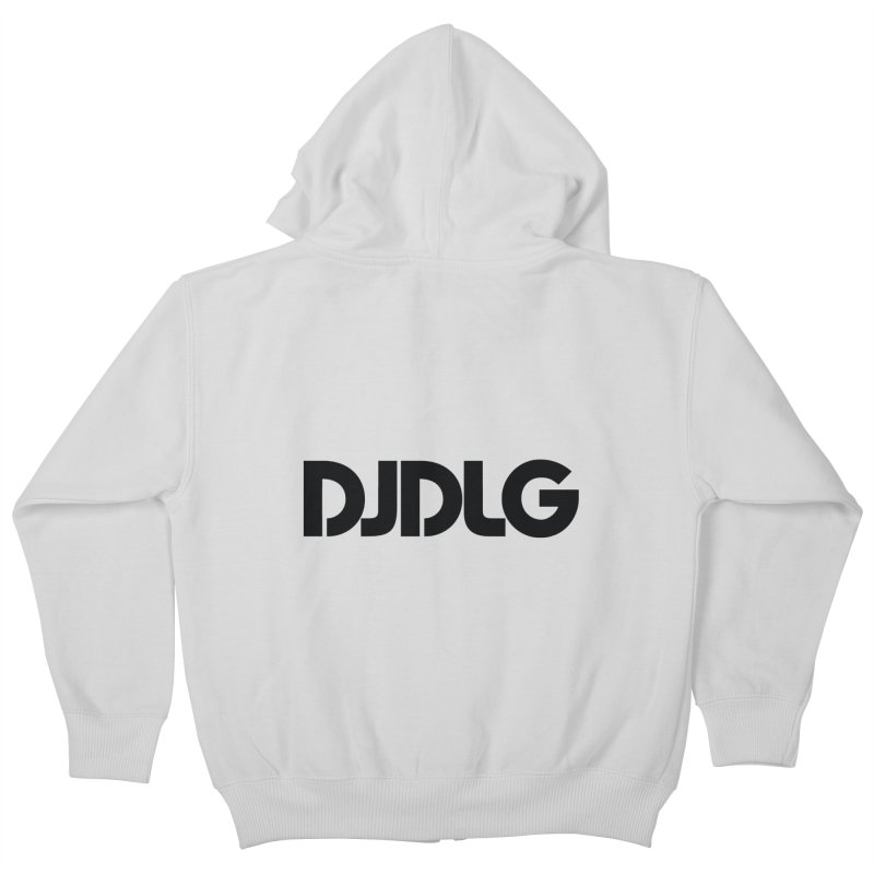 DJ DLG (Black Logo) Kids Zip-Up Hoody by Lazor Music Merchandise