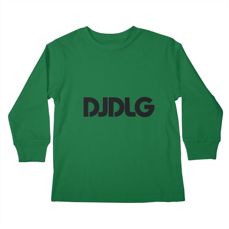 DJ DLG (Black Logo) Kids Longsleeve T-Shirt by Lazor Music Merchandise