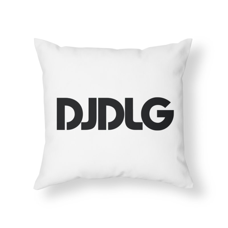 DJ DLG (Black Logo) Home Throw Pillow by Lazor Music Merchandise