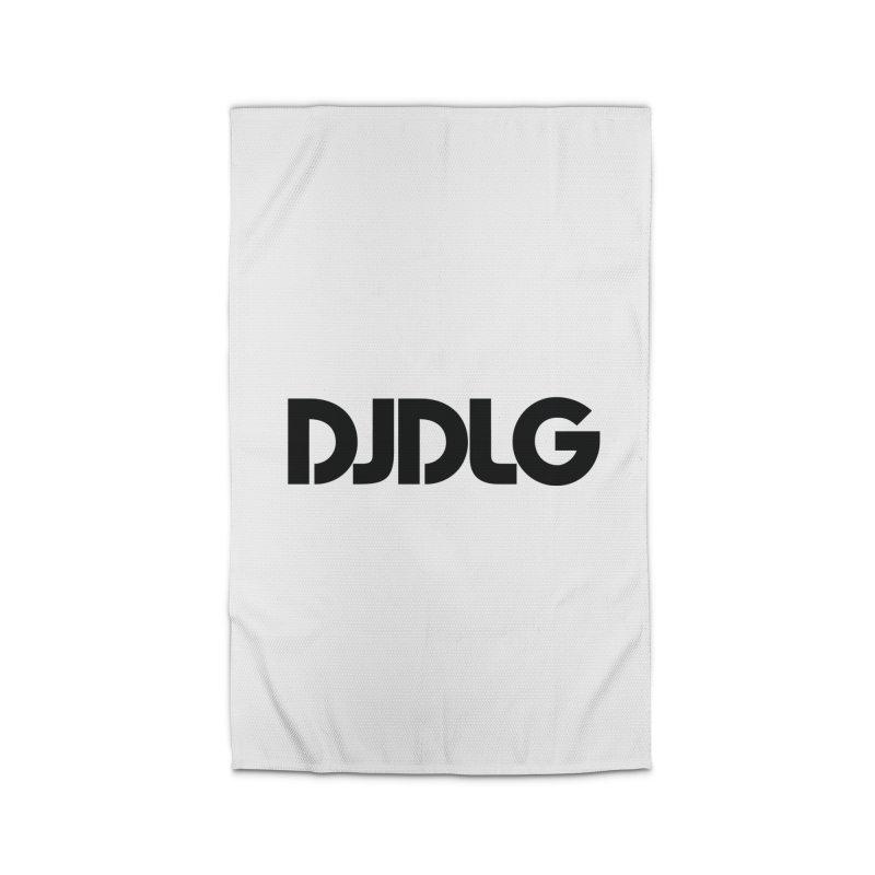 DJ DLG (Black Logo) Home Rug by Lazor Music Merchandise